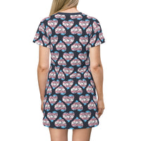 Heart of Hearts T-shirt Dress - Transgender/Navy - Ninja Ferret