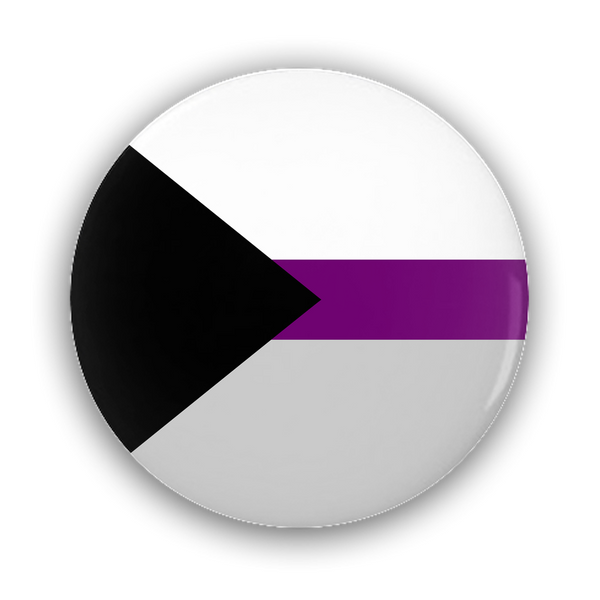 Demisexual Pride Flag Pin-Back Buttons - Ninja Ferret