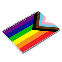 Inclusive Rainbow Pride Spiral Notebook - Ruled Line - Ninja Ferret