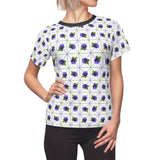 Pansy Patterned Fitted Tee - Ninja Ferret