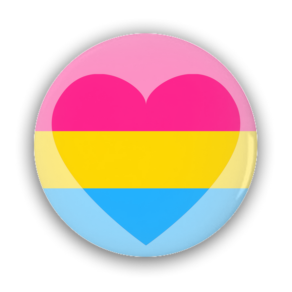 Panromantic Pride Flag Pin-Back Buttons - Ninja Ferret