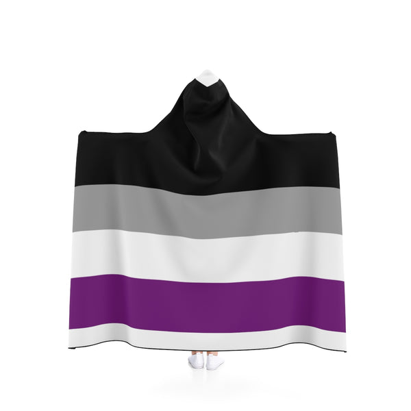 Asexual Pride Hooded Blanket - Ninja Ferret