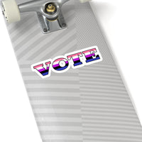 VOTE - Genderfluid | Kiss-Cut Stickers - Ninja Ferret