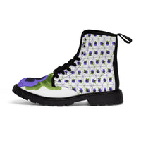 Pansy Patterned Women's Canvas Boots - Ninja Ferret