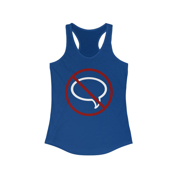No Talk Please Slim Fit Racerback Tank - Ninja Ferret