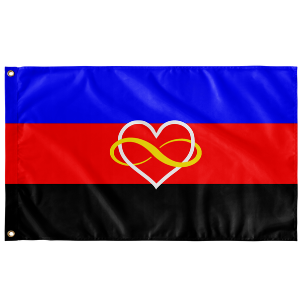 Polyamory Pride Flag - Infinity Heart Version - Ninja Ferret