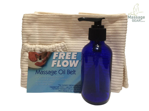 Massage Oil Glass Pump Bottle