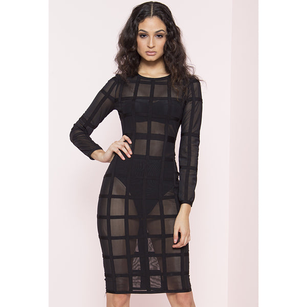 Gridlock Bandage Dress