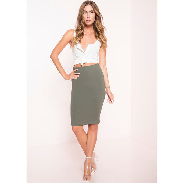 Soft Knit Pencil Skirt (More Colors)
