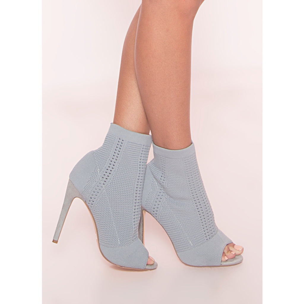 Sweater Peep Toe Bootie