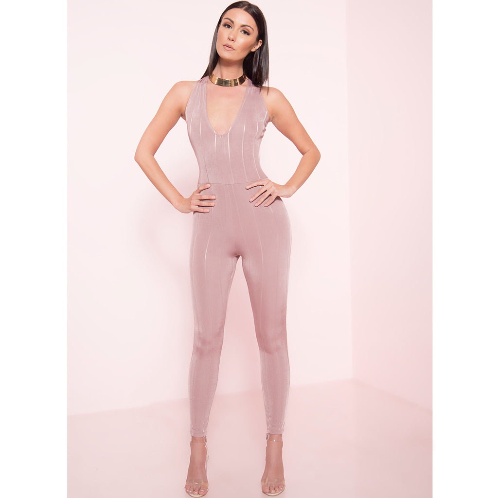 Blush Low V Jumpsuit