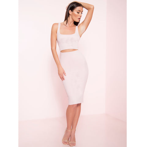 Ribbed Cut Out Tank Midi