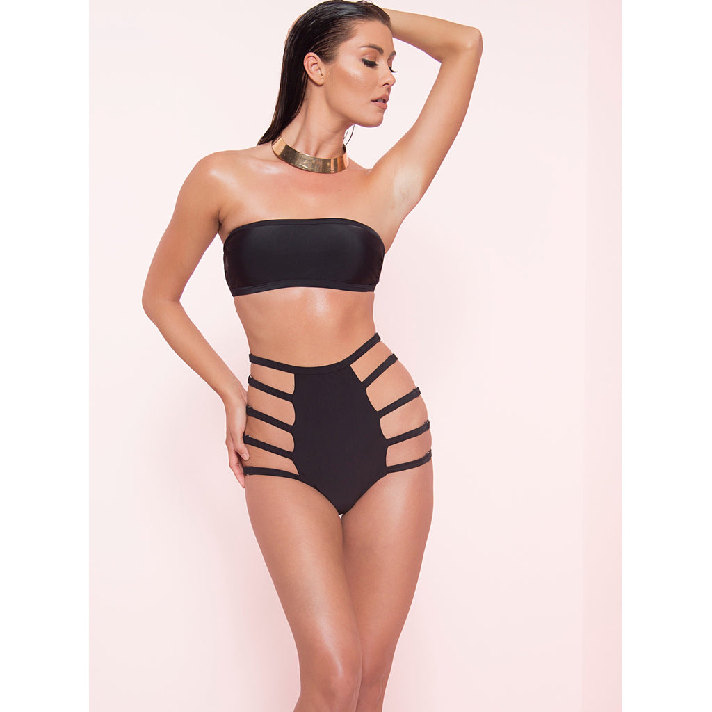 High Waist Strappy Bikini