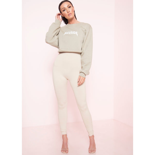 Savage Cropped Sweatshirt (More Colors)