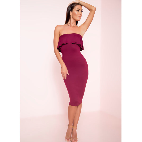 Move Me Ruffle Midi Dress