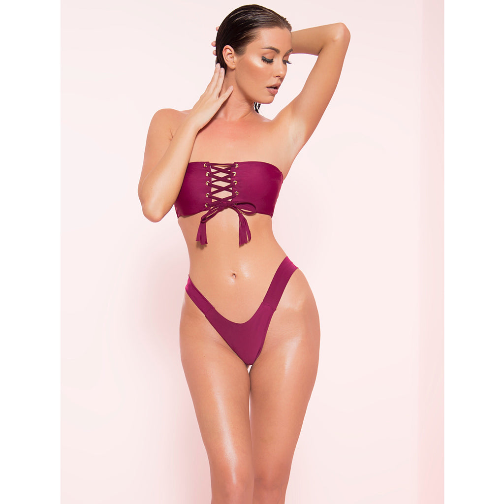 High Cut Tassel Bikini (More Colors)