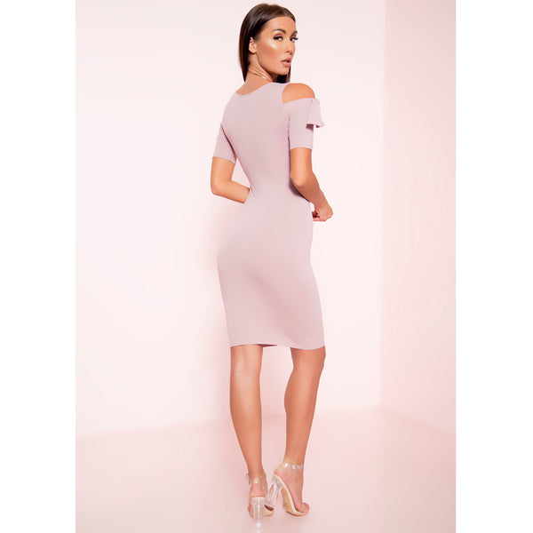Bella Cold Shoulder Midi Dress