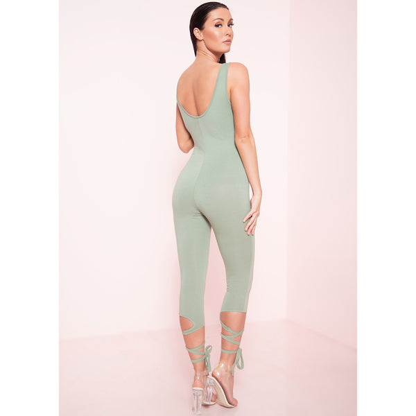 Ankle Wrap Tank Unitard (More Colors)