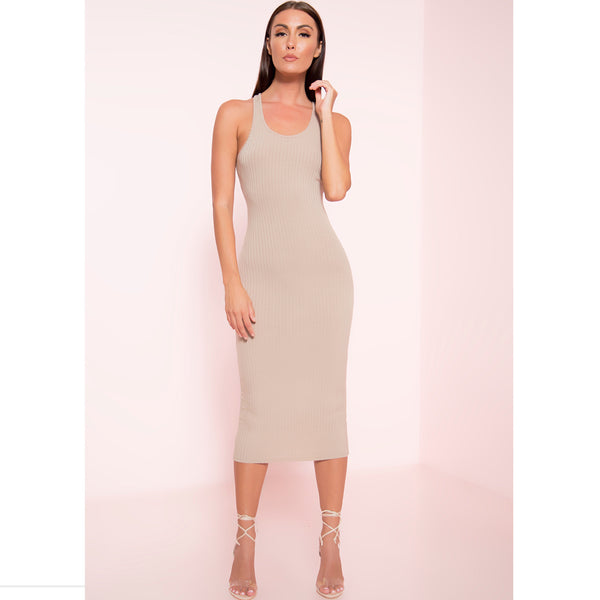 Long Line Ribbed Midi