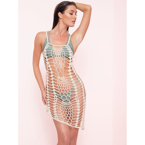 Sand Crochet Beach Cover Up