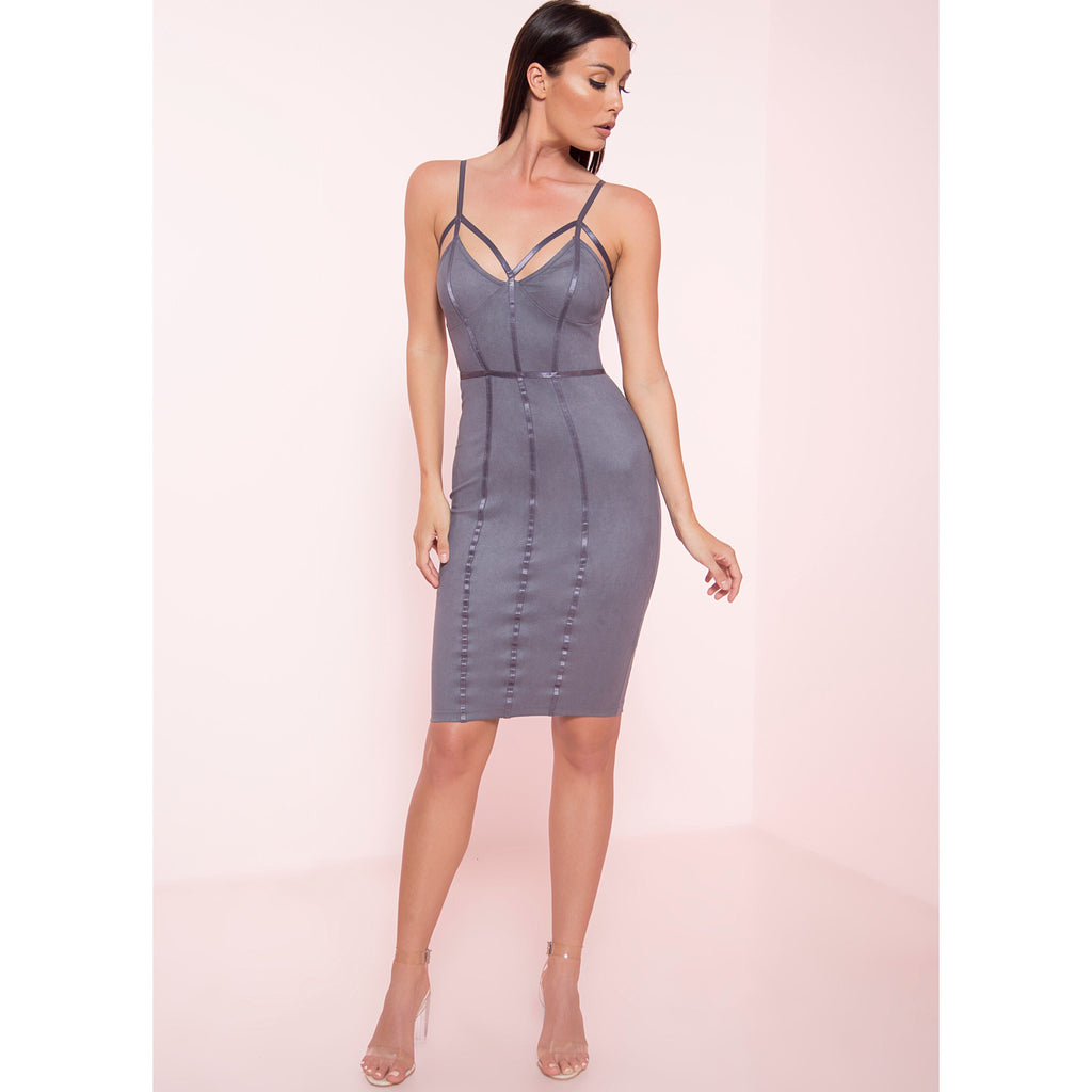 Suede Caged Dress