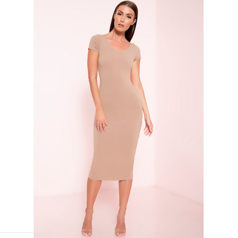 Short Sleeve Midi Dress (More Colors)