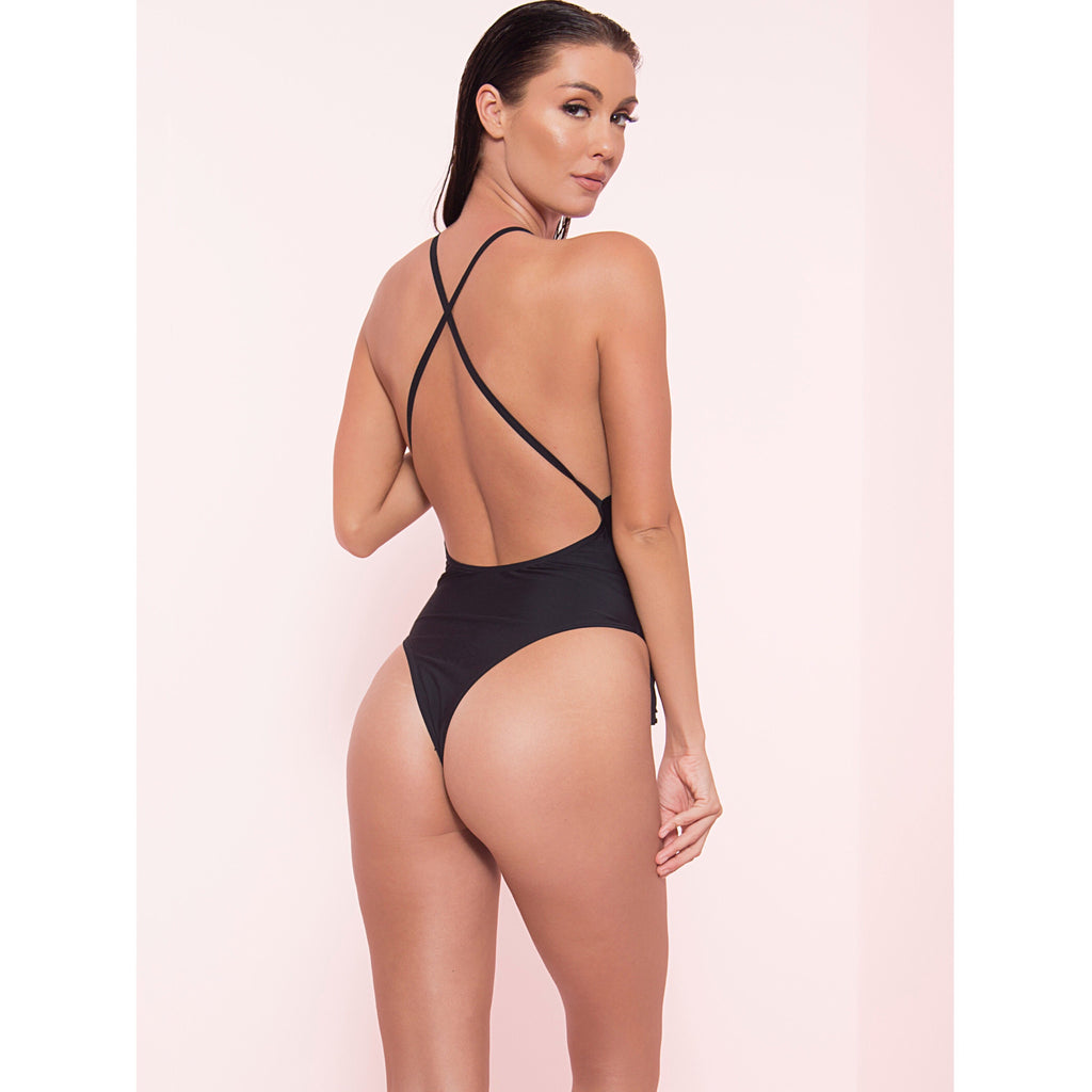 Fringe Cross Back Monokini