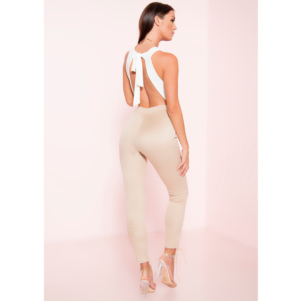 Too Smooth Suede Lace Up Leggings