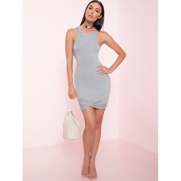 Front Knot Mini Dress