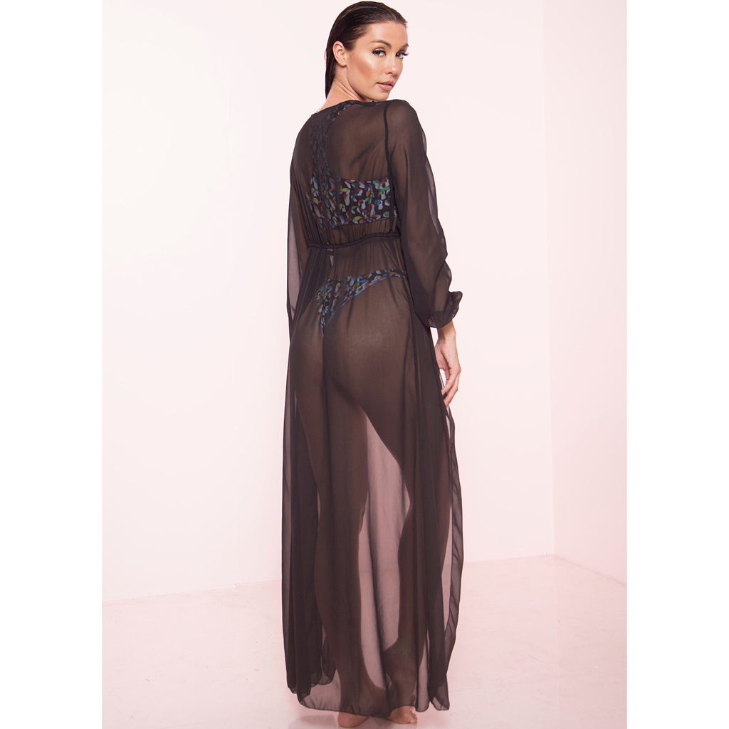 Black Sheer Cover Up