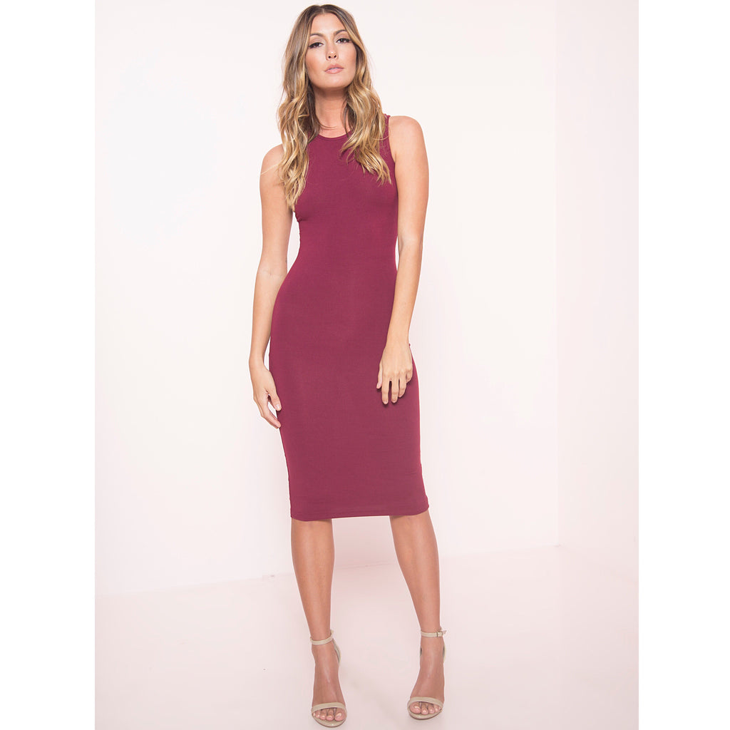 Soft Knit Midi Tank Dress (More Colors)