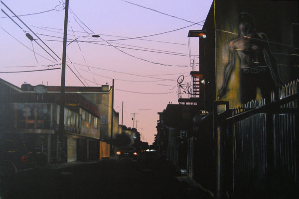 Sunset on Speedway #1 (Jim Morrison Mural by Rip Kronk)