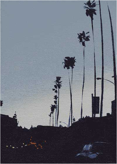 Sunset Blvd Gray Palms