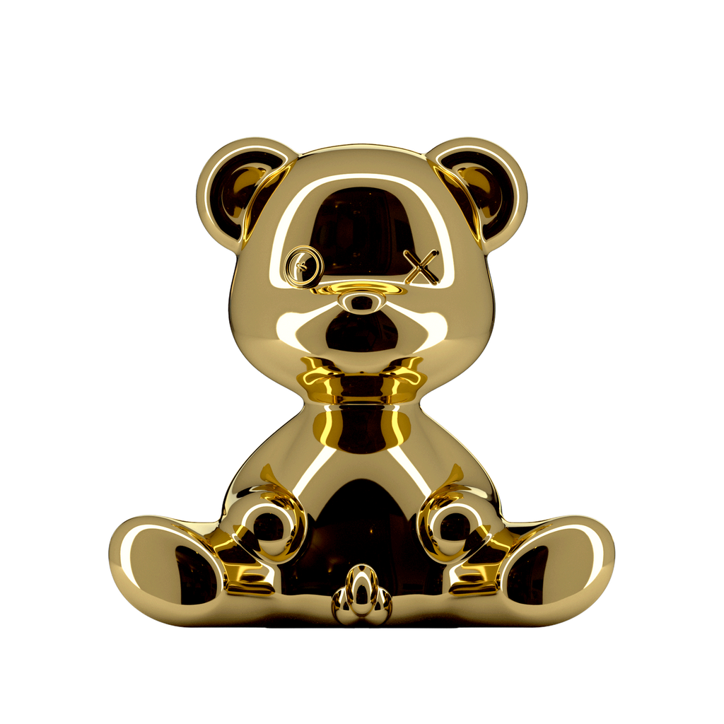 Teddy Boy Lamp Metal Finish - Gold - Qeeboo - Shop Now at Sans Tabù