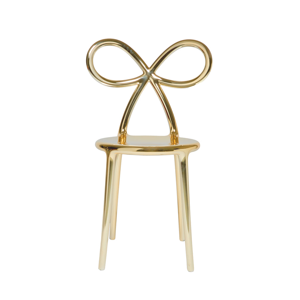 Ribbon Chair Metal Finish - Gold - Qeeboo | Shop Now at Sans Tabù
