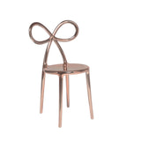 Ribbon Chair Metal Finish - Pink Gold - Qeeboo | Shop Now at Sans Tabù