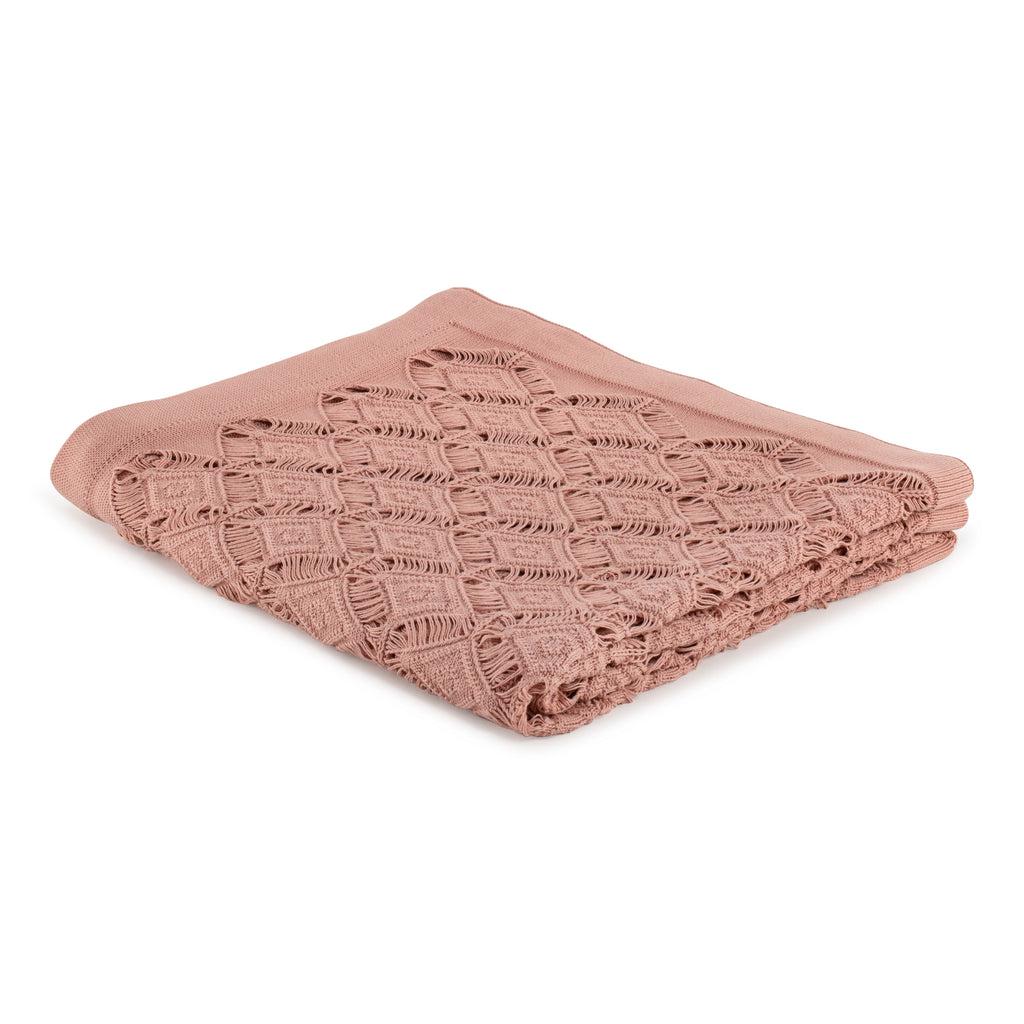 Blanket Diamond Lace in Cotton - Old Rose Pink - Knits - Sans Tabù