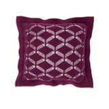 Cushion Diamond Lace in Cotton - Wine Purple and Old Rose - Pink - Knits - Sans Tabù