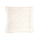 Cushion Diamond Lace in Cotton - White and Rope - Knits - Sans Tabù