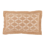 Cushion Rectangular Diamond Lace in Cotton - Rope and White - Knits - Sans Tabù