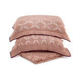 Cushion Rectangular Diamond Lace in Cotton - Old Rose Pink and Wine - Knits - Sans Tabù