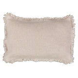 Cushion Rectangular Fur Stitch in Mohair - Milk Beige - Knits - Sans Tabù