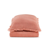 Cushion Rectangular Fur Stitch in Mohair - Old Rose Pink - Knits - Sans Tabù