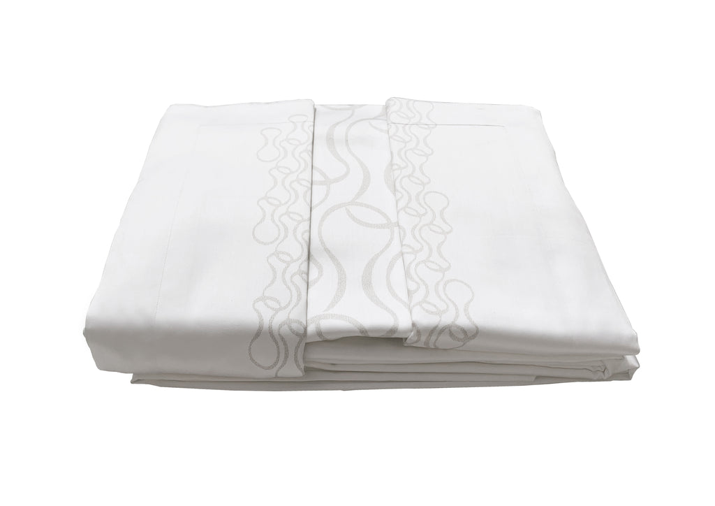 Duvet Set Super King 1000TC - 260 x 220 - White - Mid Century Rhythm - André Fu Living