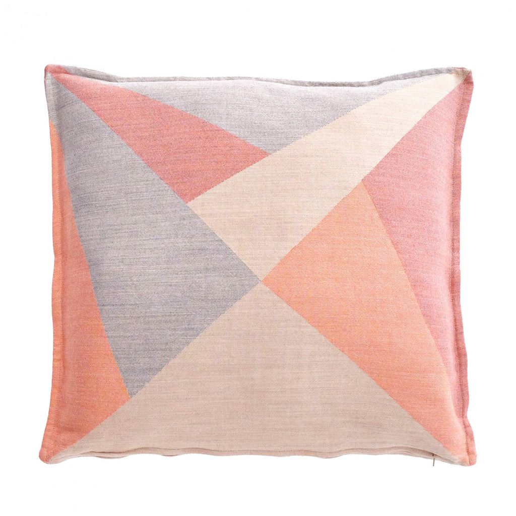 Cushion Policromi by Zanuso Jr in Silk and Wool Jacquard - Caribe Orange Gray - Policromi - Sans Tabù