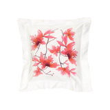 Pillow Peachblossom in Cotton Sateen Embroidered Print - White Peach - Garden Delights - Sans Tabù