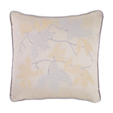 Cushion in Silk and Lurex Jacquard Fil Coupé - Milk White Metallic - Garden Delights - Sans Tabù