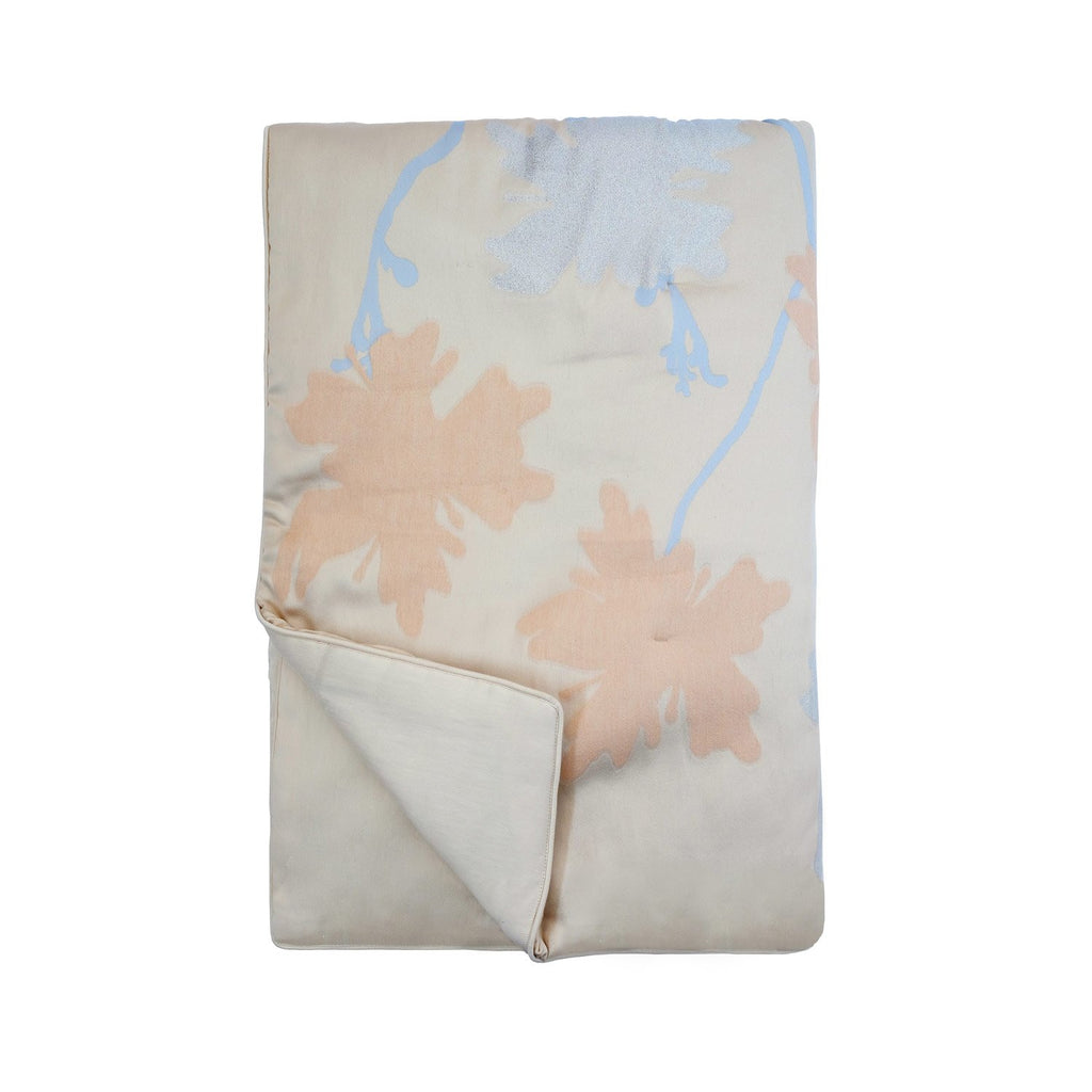 Quilt Peachblossom in Silk and Lurex Jacquard Fil Coupé - Milk White Metallic - Garden Delights - Sans Tabù