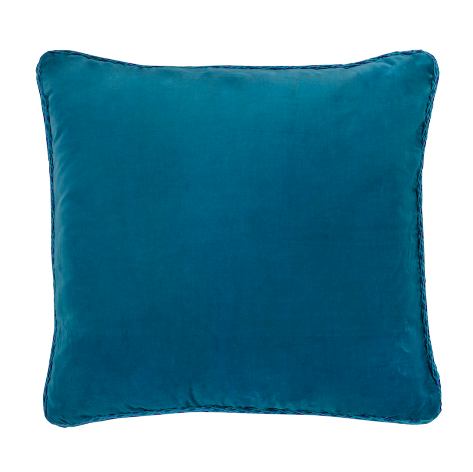 Cushion Aristo Pop in cotton velvet - Sky Blue - Renaissance Pop - Sans Tabù