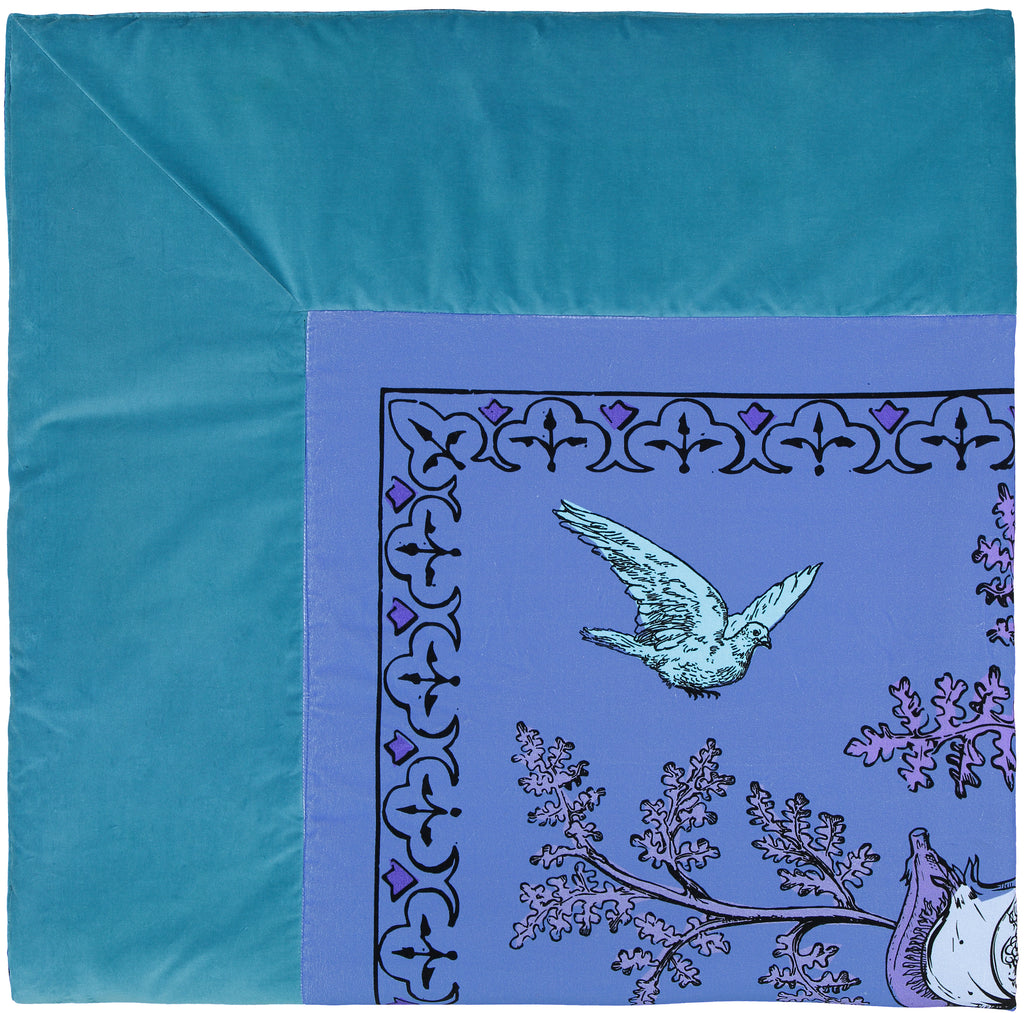 Quilt Aristo Pop in cotton velvet - Sky Blue - Renaissance Pop - Sans Tabù